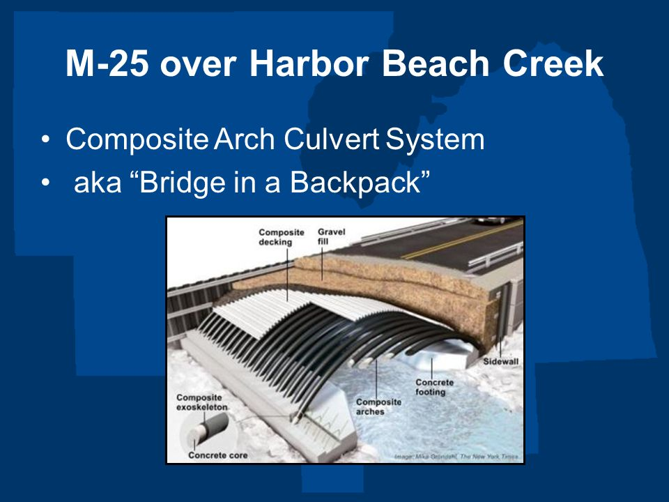 M-25 over Harbor Beach Creek Composite Arch Culvert System aka Bridge in a Backpack
