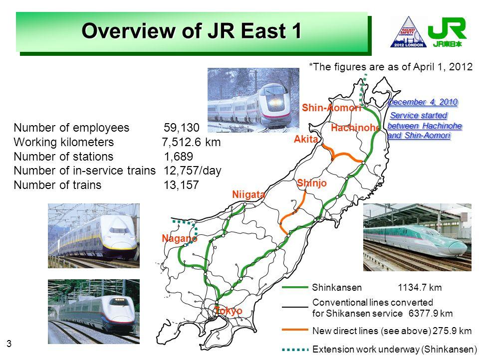3 December 4, 2010 Service started between Hachinohe and Shin-Aomori Service started between Hachinohe and Shin-Aomori Nagano Niigata Tokyo Akita Hach