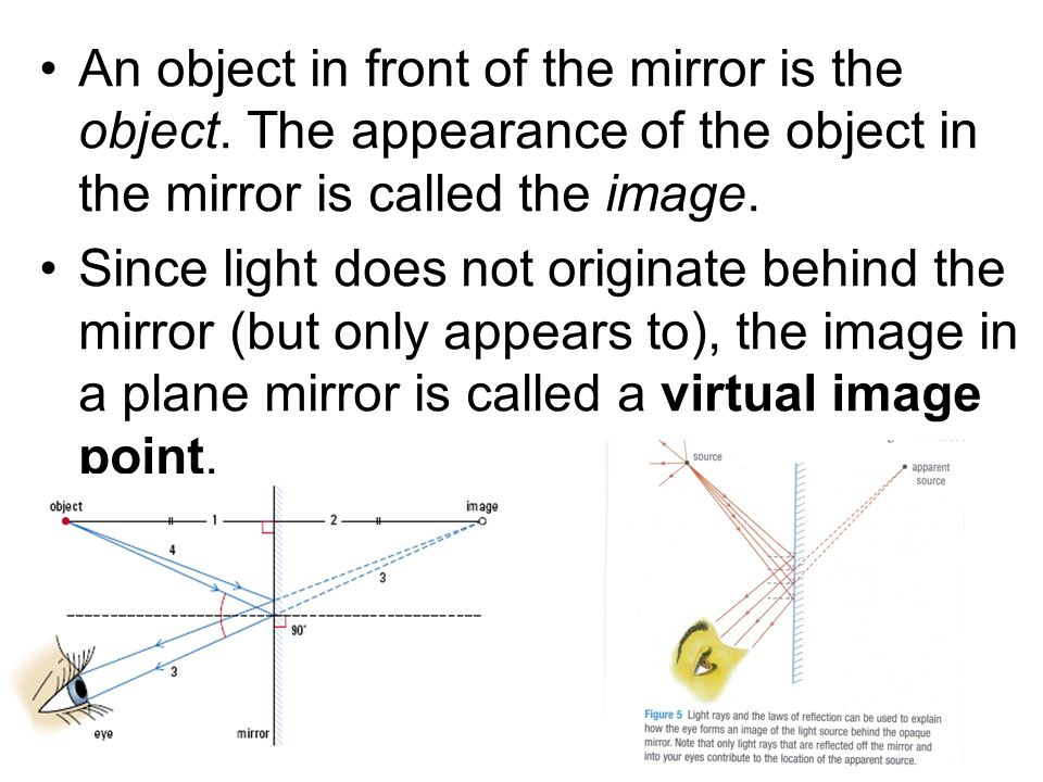 NOTE: the human brain can only comprehend light rays travelling in straight line paths