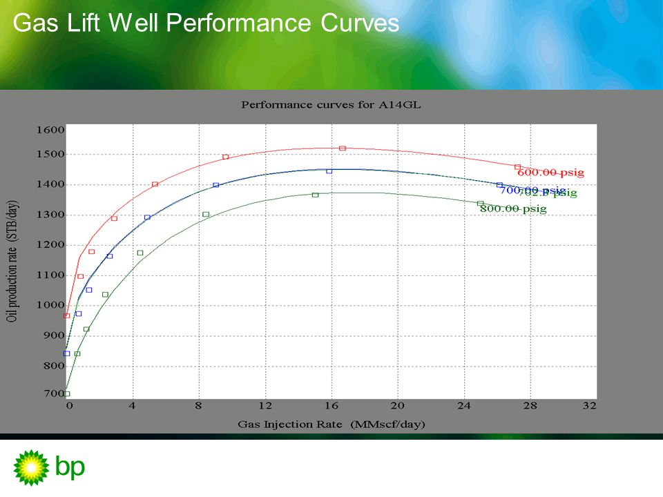 Gas Lift Well Performance Curves