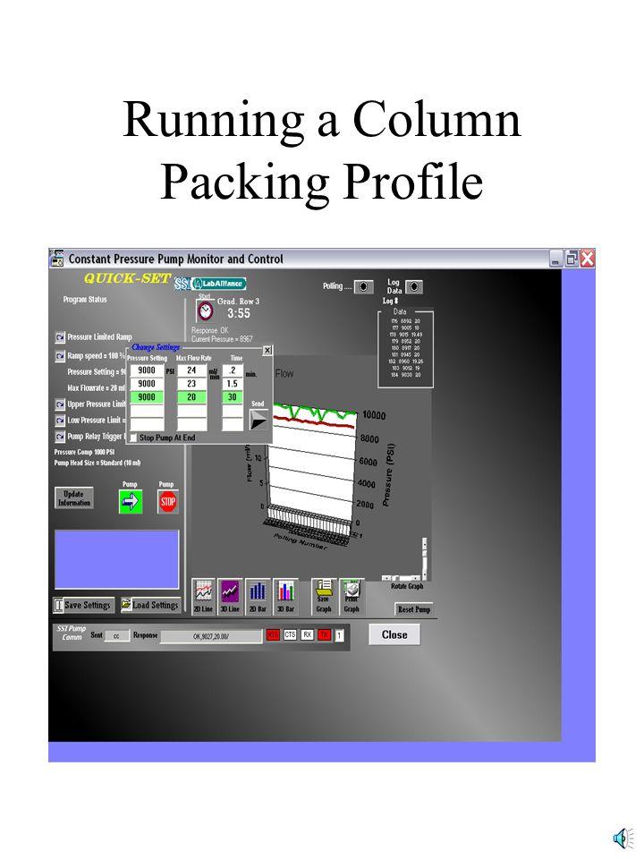 Running a Column Packing Profile