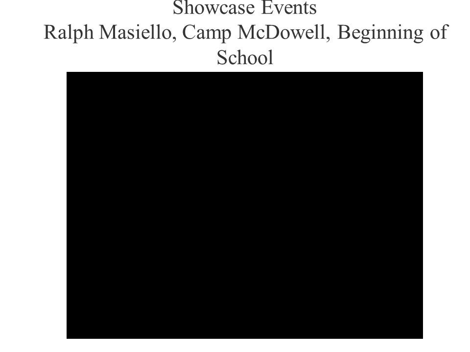 Showcase Events Ralph Masiello, Camp McDowell, Beginning of School