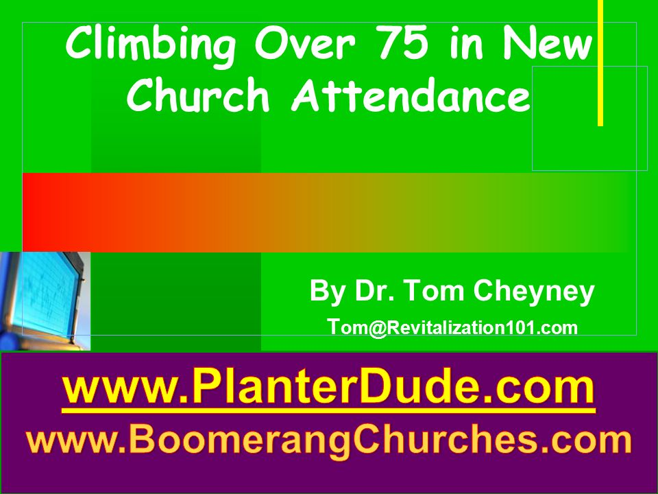 Company LOGO Climbing Over 75 in New Church Attendance By Dr.