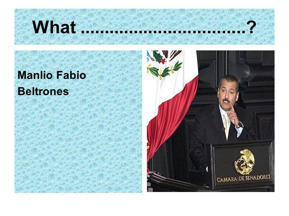 What..................................? Manlio Fabio Beltrones