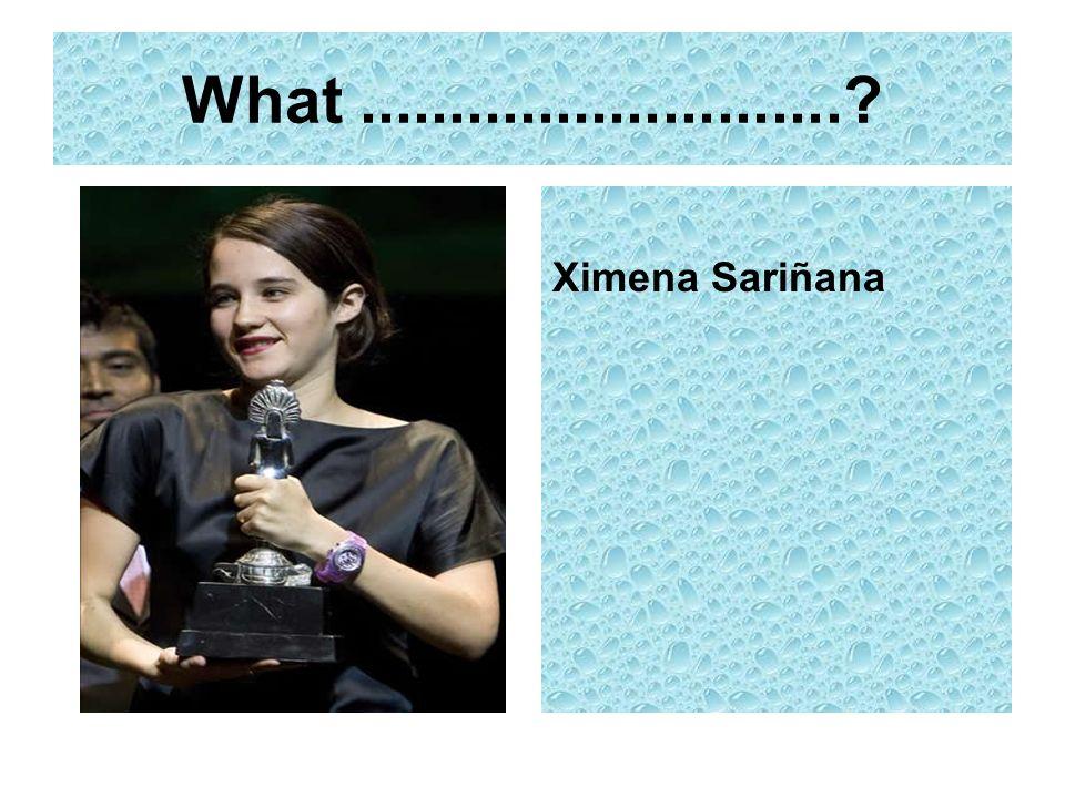 What...........................? Ximena Sariñana