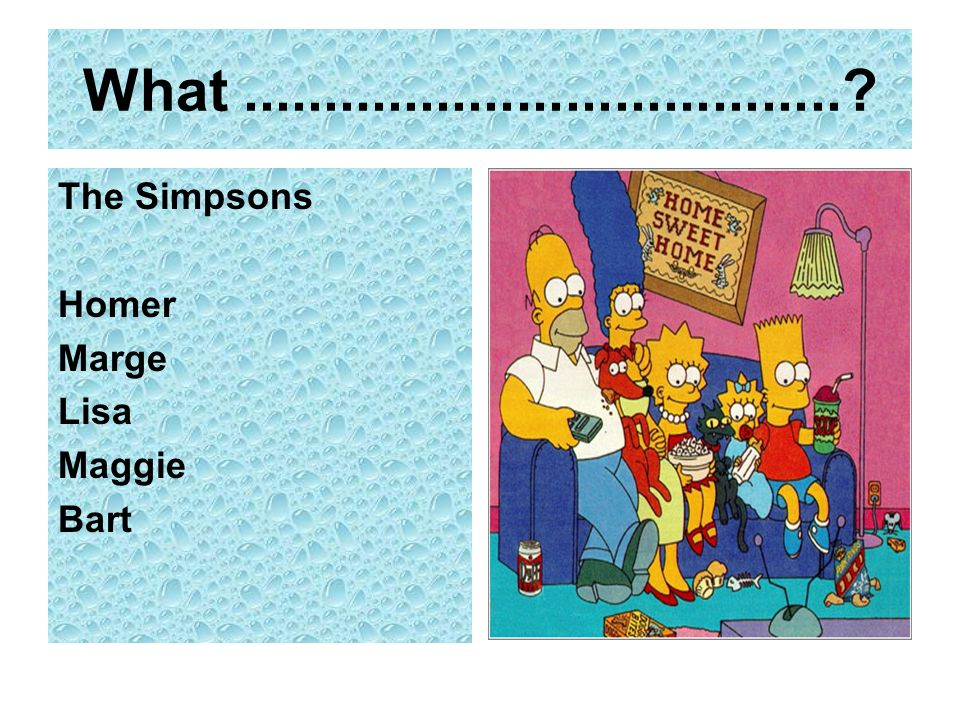 What.....................................? The Simpsons Homer Marge Lisa Maggie Bart