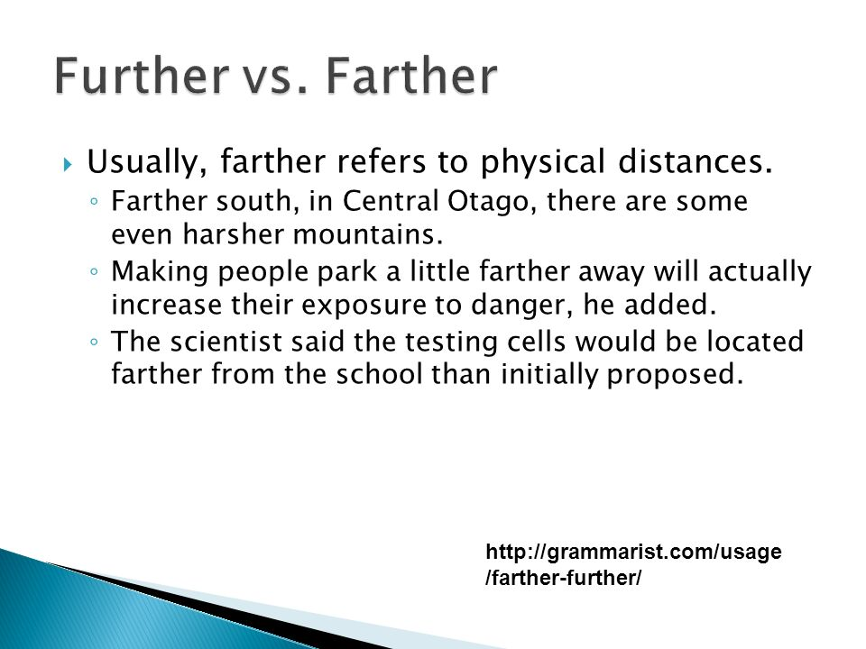 Usually, farther refers to physical distances.