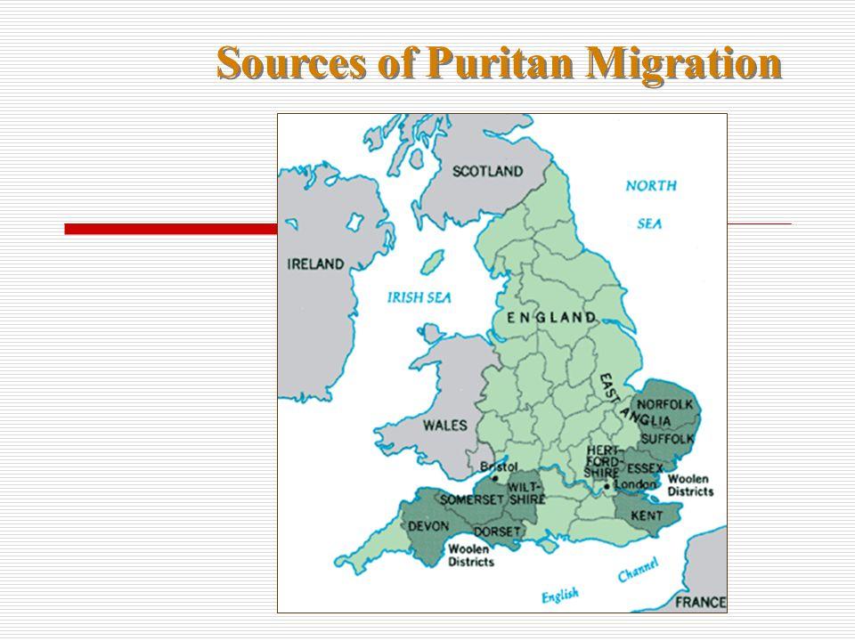 Sources of Puritan Migration
