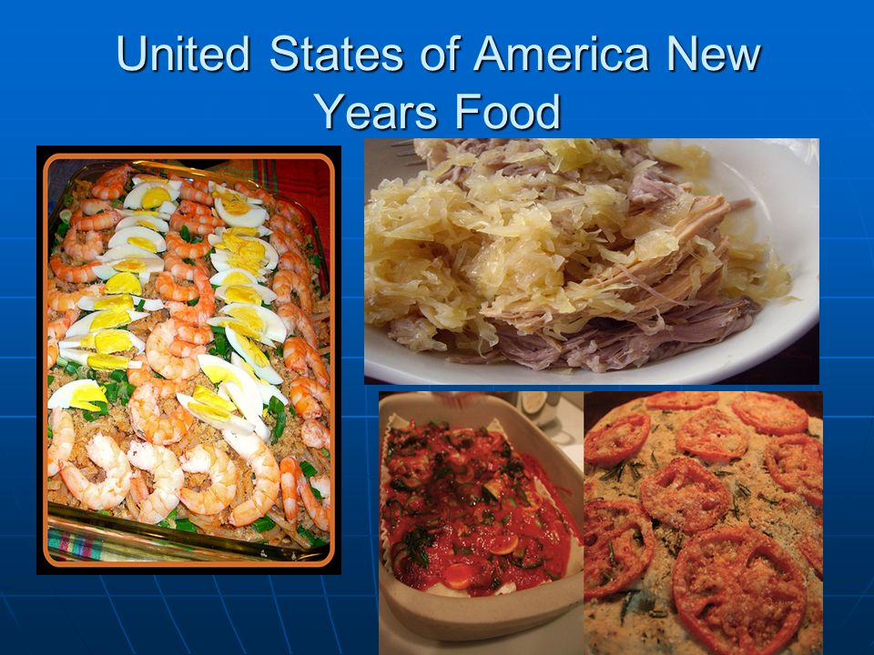 United States of America New Years Food