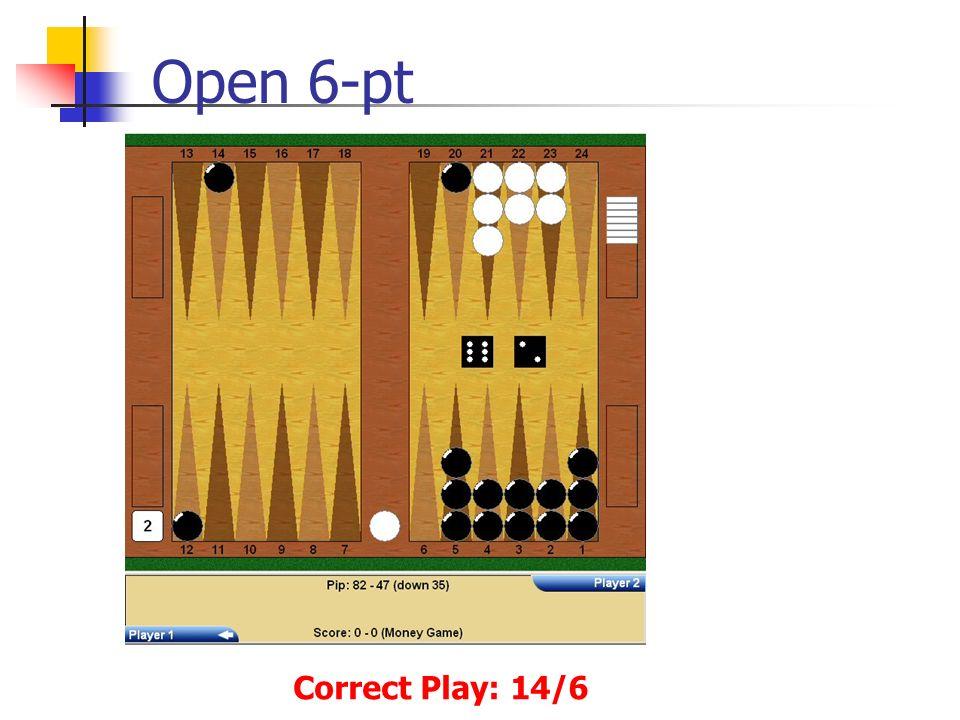Open 6-pt Correct Play: 14/6