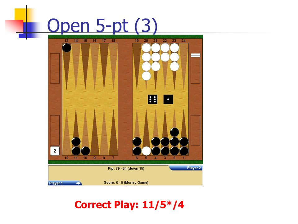Open 5-pt (3) Correct Play: 11/5*/4