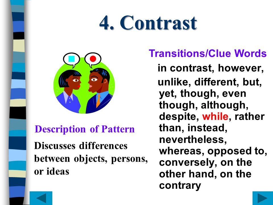 Topic sentence 4 suggests a Cause and Effect pattern.