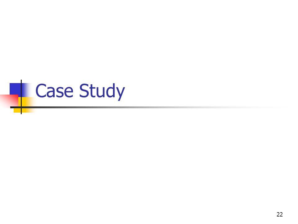 22 Case Study