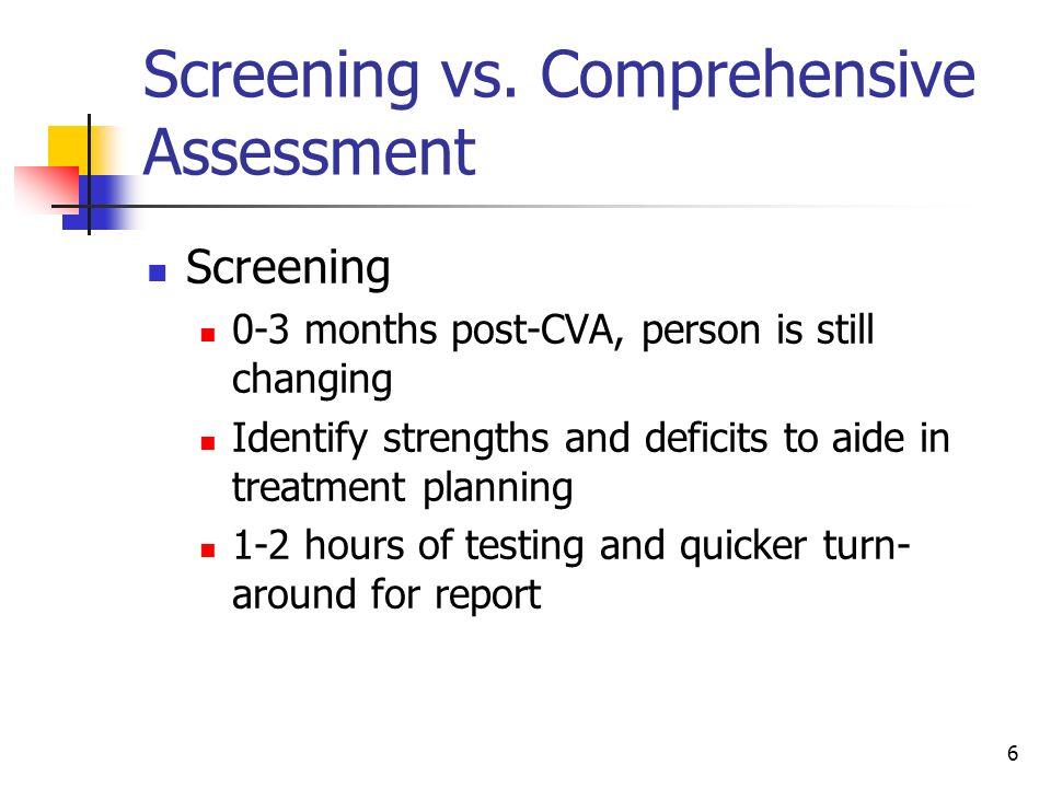 6 Screening vs.