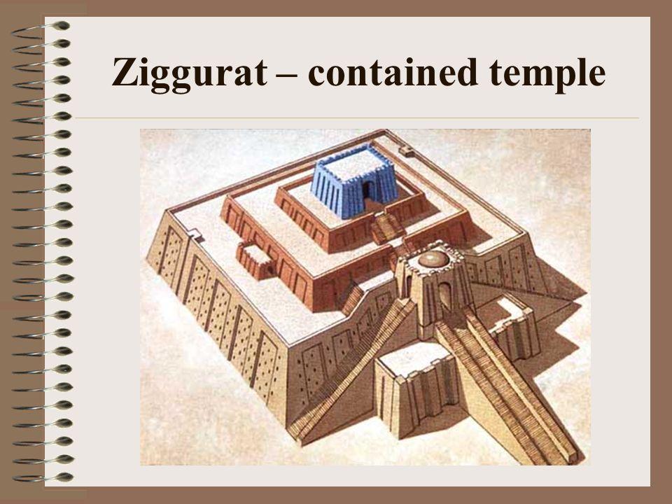 Ziggurat – contained temple