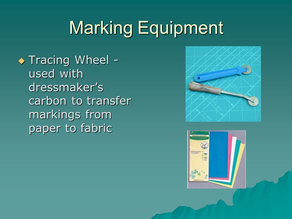 Marking Equipment Tracing Wheel - used with dressmakers carbon to transfer markings from paper to fabric Tracing Wheel - used with dressmakers carbon