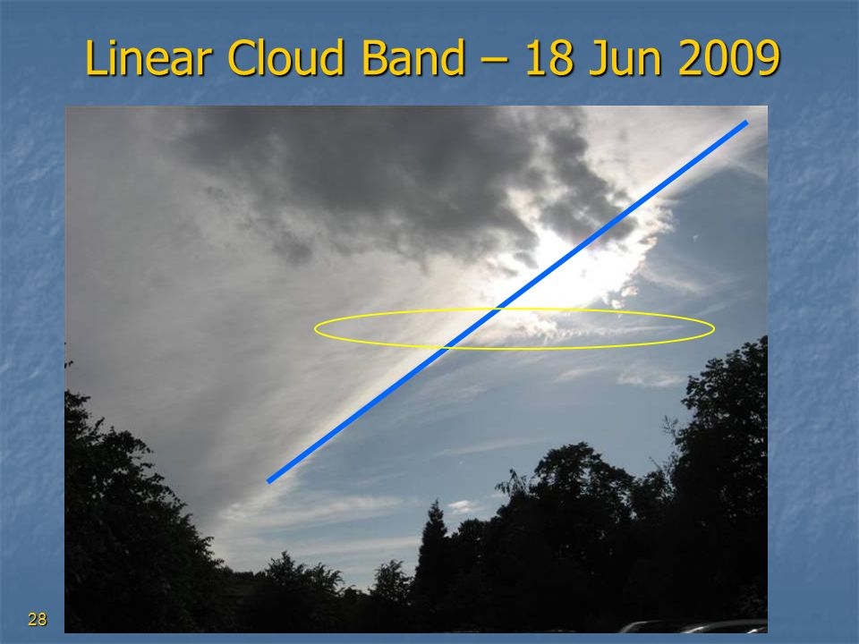 28 Linear Cloud Band – 18 Jun 2009
