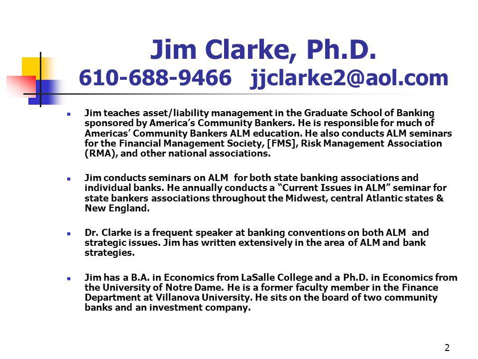 2 Jim Clarke, Ph.D.