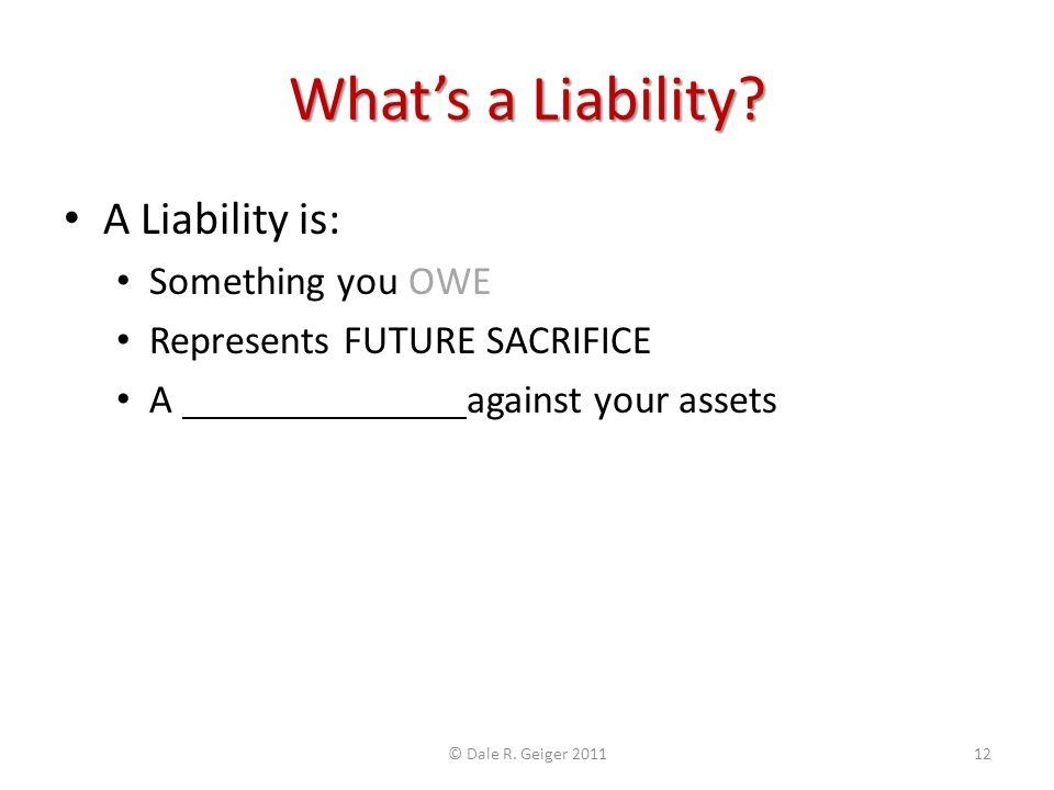 Whats a Liability.