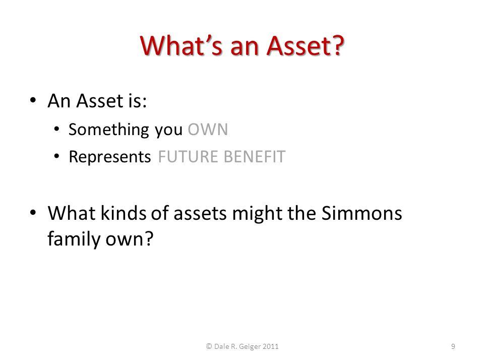 Whats an Asset.