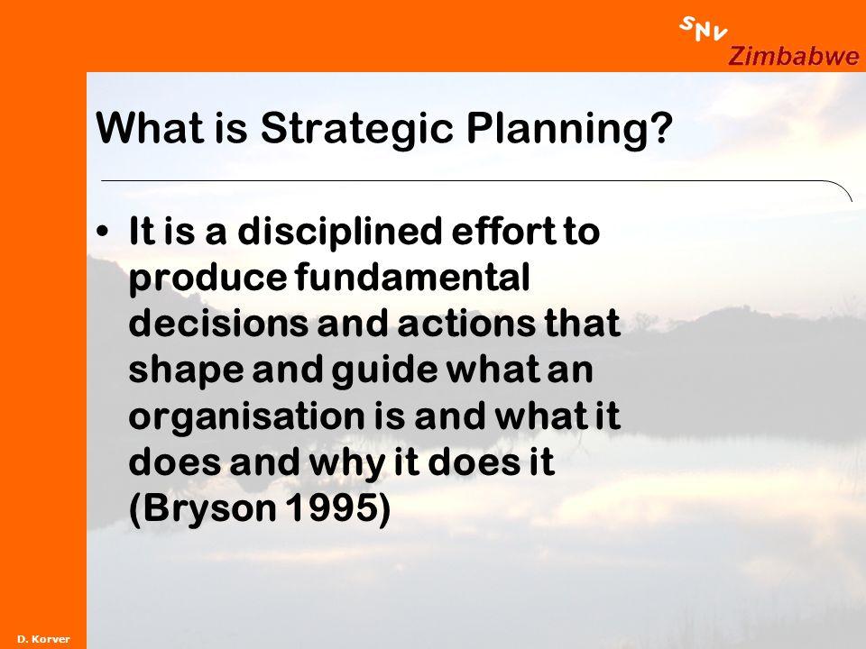 D. Korver What is Strategic Planning.