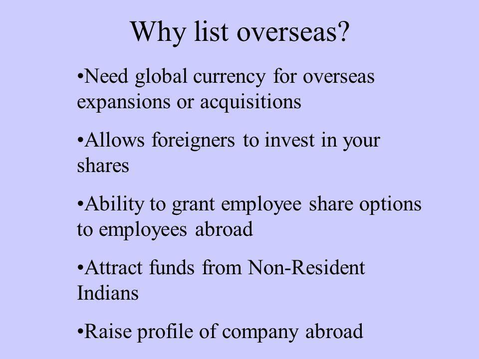 Why list overseas.