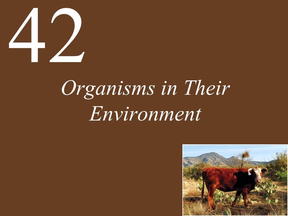 Organisms in Their Environment 42