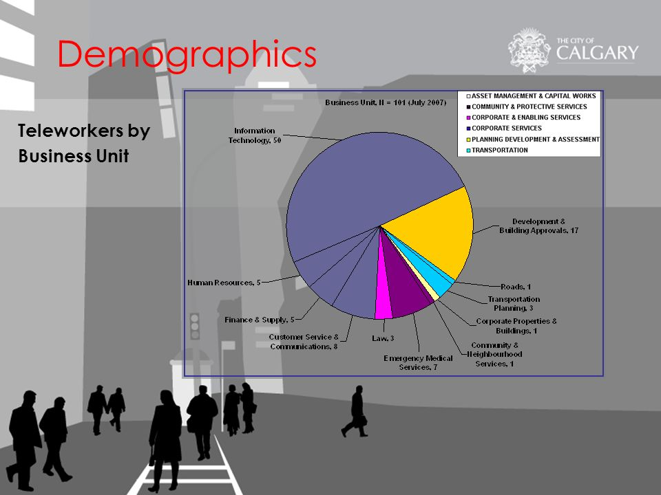 Teleworkers by Business Unit Demographics