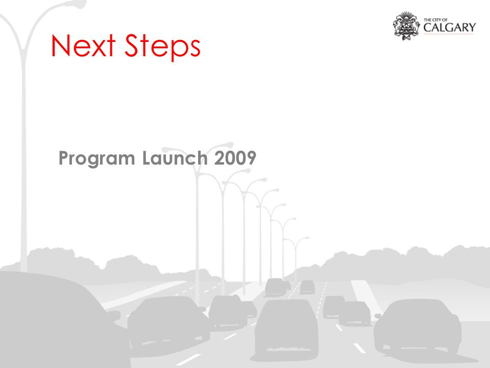 Next Steps Program Launch 2009