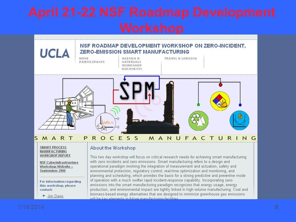 8 April 21-22 NSF Roadmap Development Workshop 81/16/2014