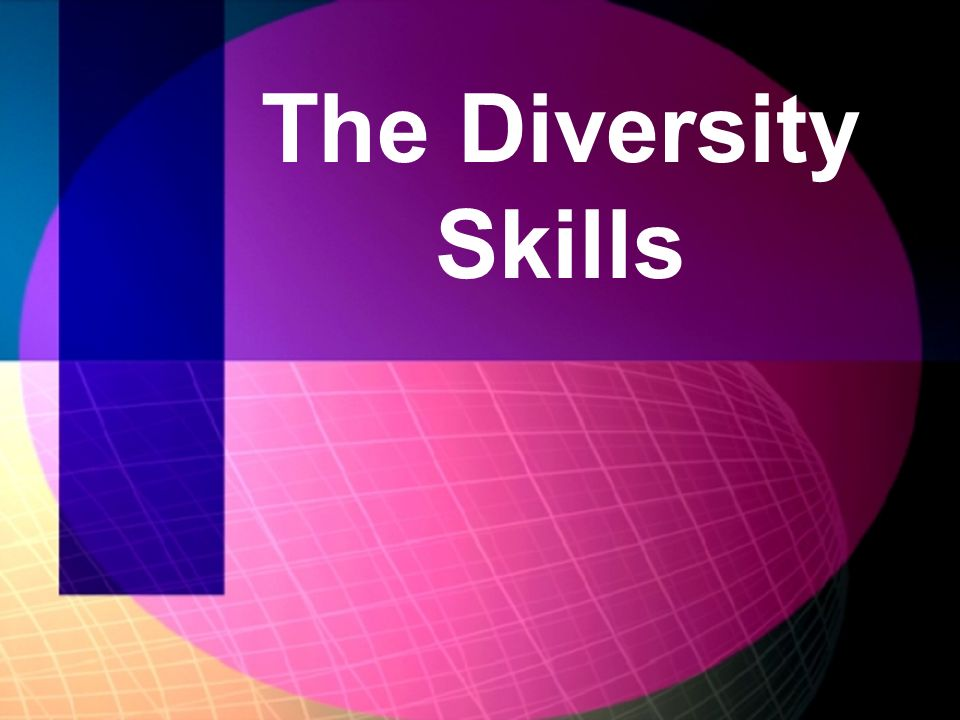 The Diversity Skills