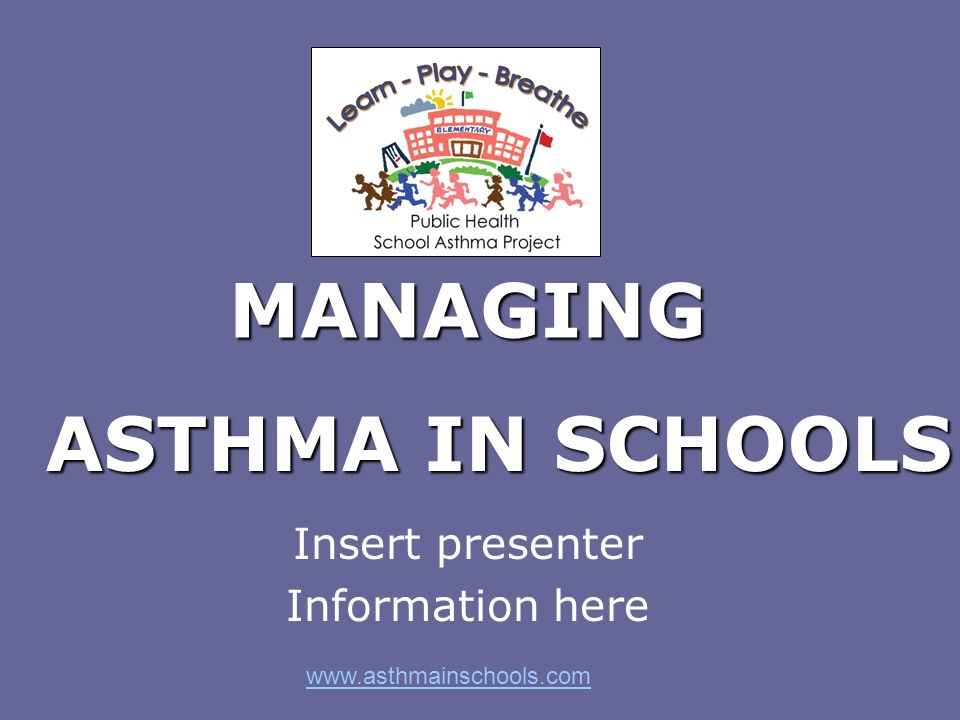 Asthma… Is the most common chronic disease of children Effects 1 in 5 children in Ontario Is the leading cause of school absenteeism and emergency room visits Can be life threatening if not properly controlled Is poorly controlled in >60% of cases Whats the big deal?