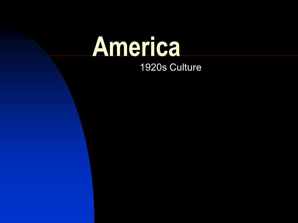 America 1920s Culture