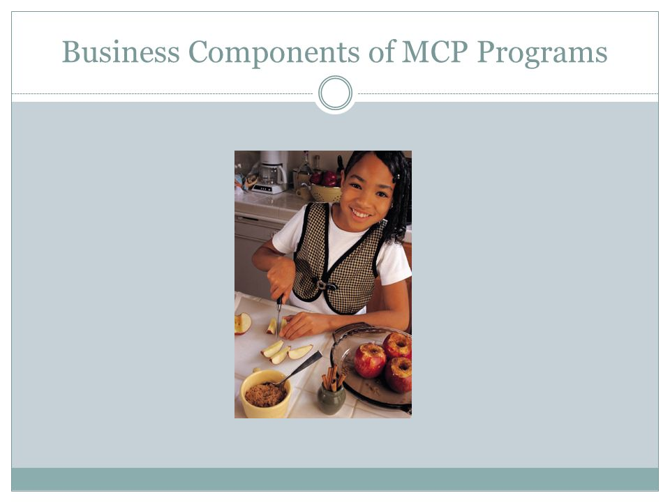 Business Components of MCP Programs