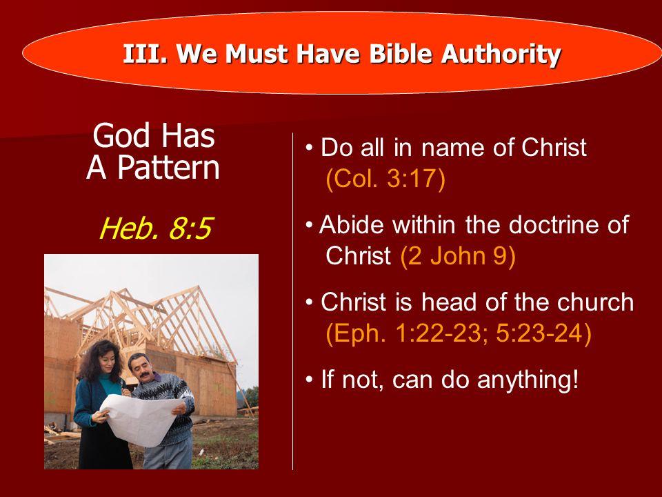 I.What Is Authority. II. God Has Authority Over Man III.