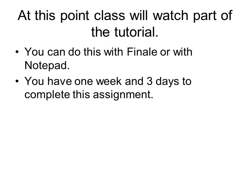 At this point class will watch part of the tutorial.
