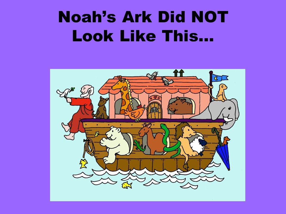 Noahs Ark Did NOT Look Like This…