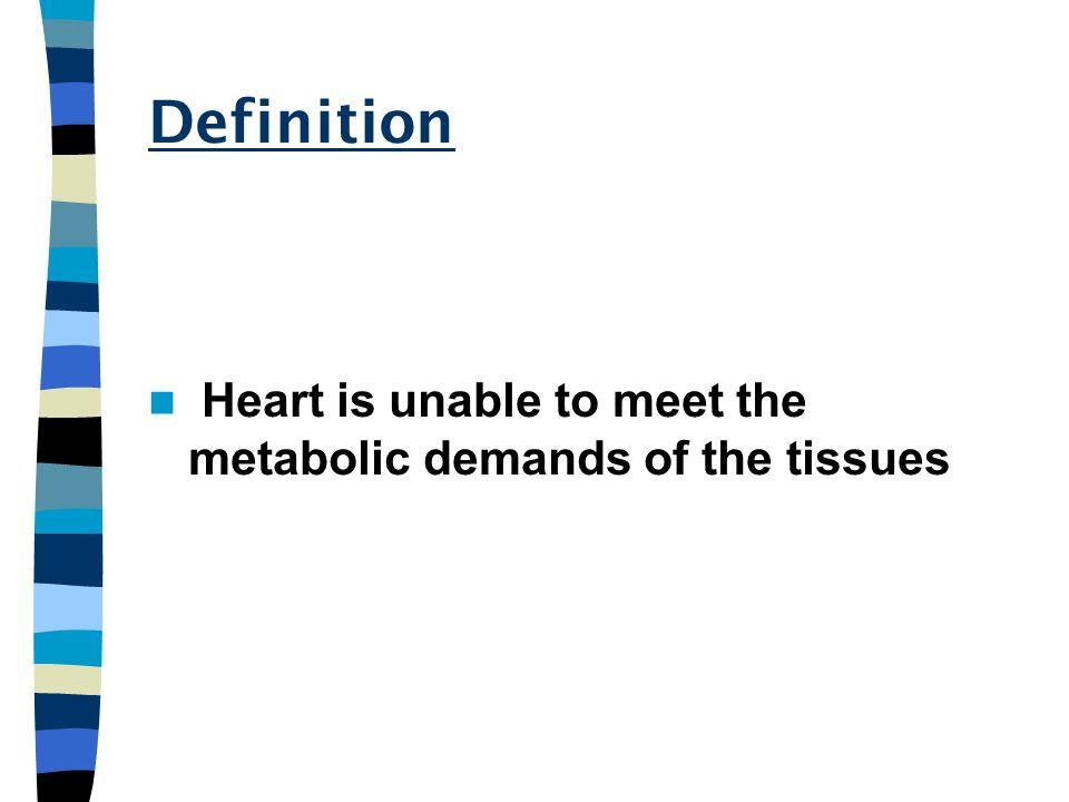 Stress on heart HR Contractility catecholamine autonomic input Preload renal preservation venous constriction Decompesation HR Pul edema, hepatomegaly Cardiac output