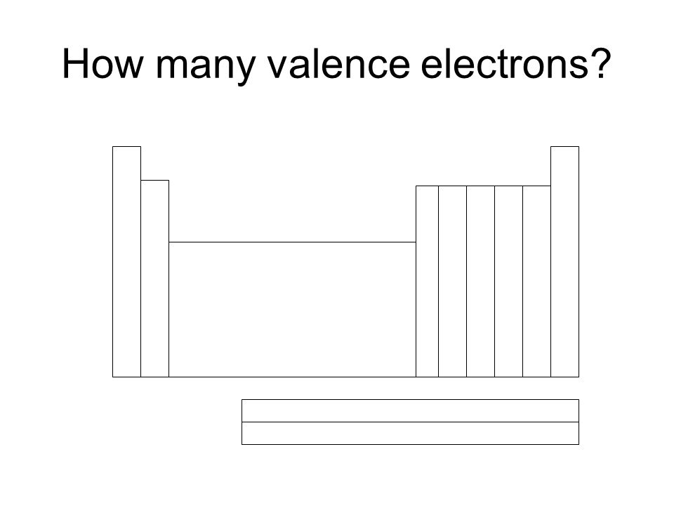 How many valence electrons?