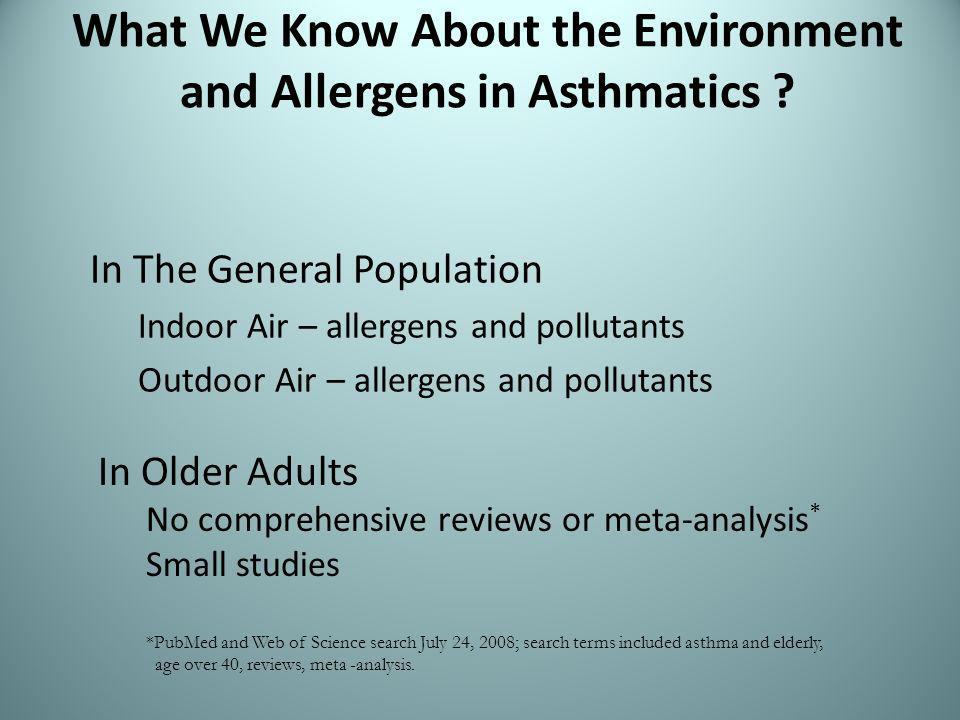 What We Know About the Environment and Allergens in Asthmatics .