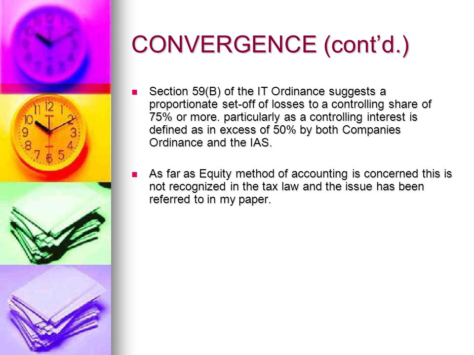 CONVERGENCE (contd.) CONVERGENCE (contd.) The two have the same objective - A financial picture as a single entity.