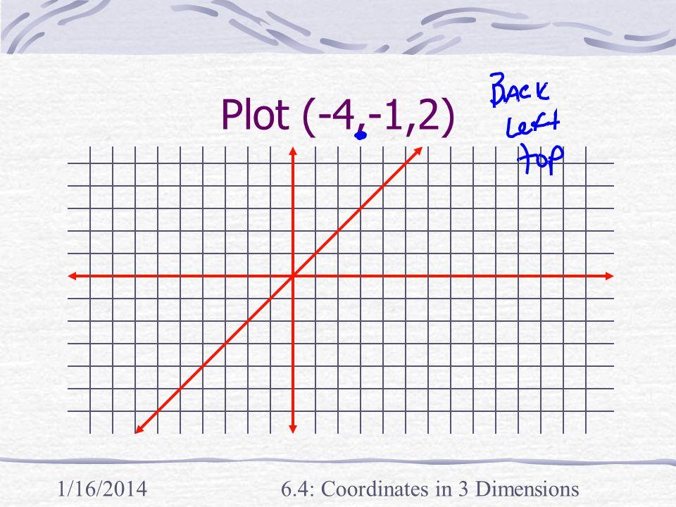 1/16/20146.4: Coordinates in 3 Dimensions Plot (-4,-1,2)