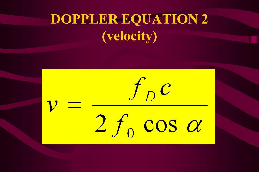DOPPLER EQUATION 1 (Doppler shift)