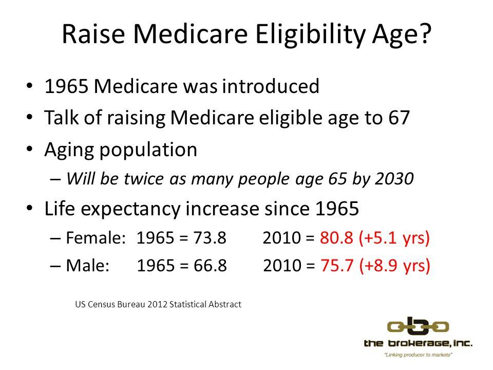 Raise Medicare Eligibility Age.