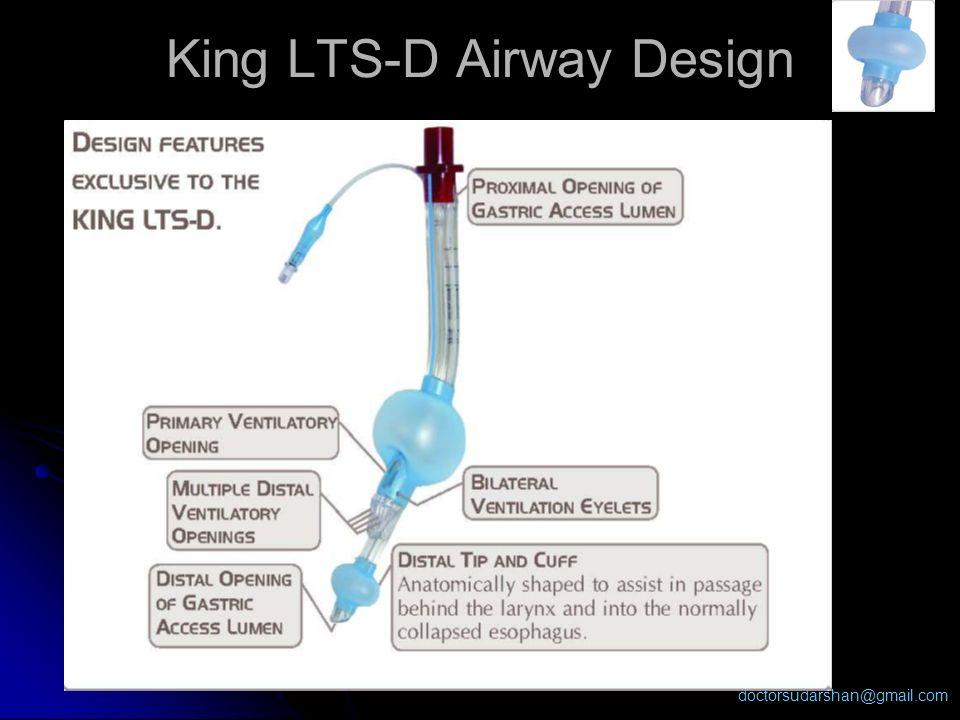 doctorsudarshan@gmail.com King LTS-D Airway Design
