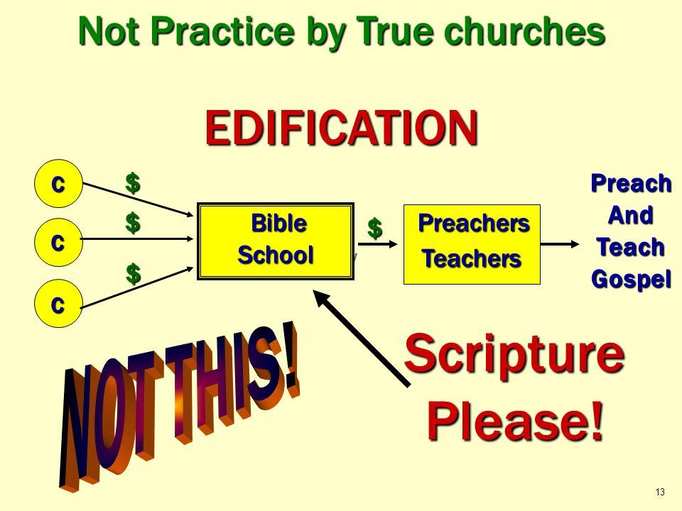 Okay Not Practice by True churches PreachAndTeachGospel C C $ $ $ EDIFICATION C Preachers PreachersTeachers Bible BibleSchool $ Scripture Please! 13
