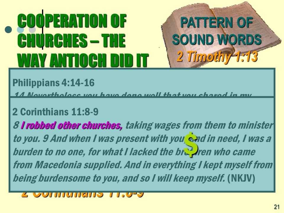 Gods Pattern for Cooperation in Evangelism Gods Pattern for Cooperation in Evangelism Church supports Church supports preachers preachers Philippians