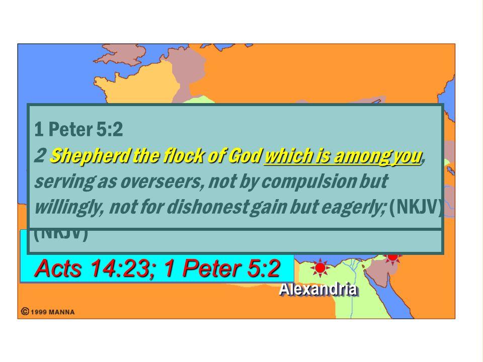 RomeRome ConstantinopleConstantinople AntiochAntioch JerusalemJerusalem AlexandriaAlexandria Colossians 1:18 Acts 14:23; 1 Peter 5:2 Colossians 1:18 A