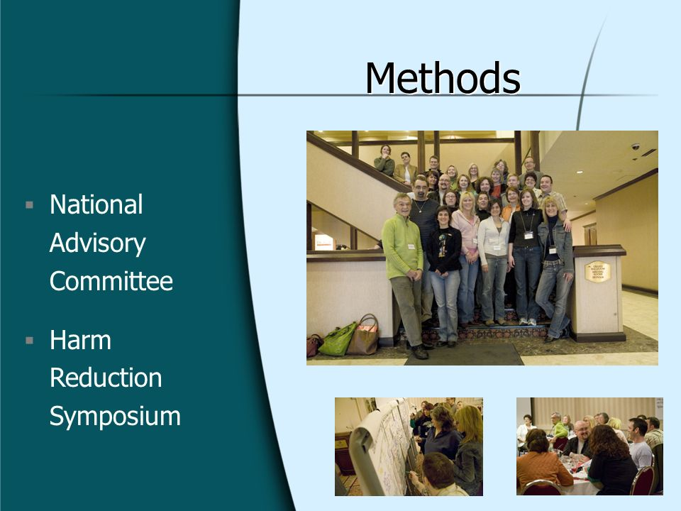 Methods National Advisory Committee Harm Reduction Symposium