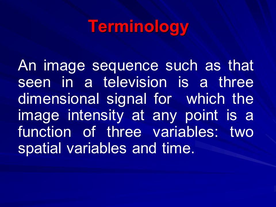 Terminology 1.